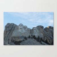 rushmore Canvas Prints featuring Mount Rushmore by Denny Armstrong