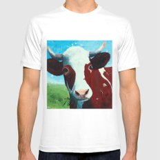 Animal - Daisy the Cow - by LiliFlore White Mens Fitted Tee MEDIUM