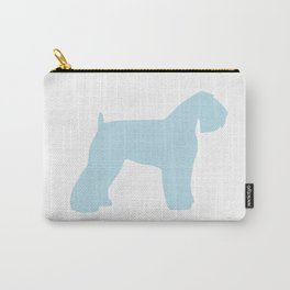 Schnauzer blue wall art sky blue Carry-All Pouch