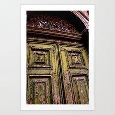 Green Door 2 Art Print