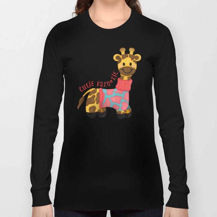 Cutie Patootie Giraffe Long Sleeve T-shirt