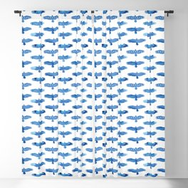 American eagles. Pattern. Watercolor. Blackout Curtain