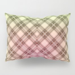 Pink green, plaid Pillow Sham