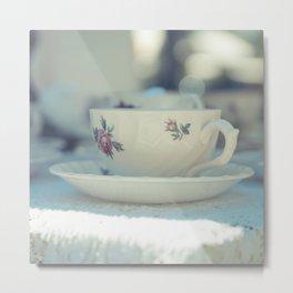 Vintage Tea cup Metal Print