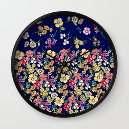 tangled floral Wall Clock