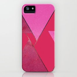 Pink Star Triangles 01 iPhone Case