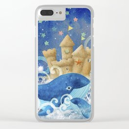 Sandcastle Waves Whales Clear iPhone Case