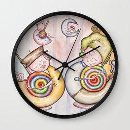 Sugar Addicts Take a Nap Wall Clock