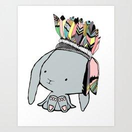 Indian Bunnie Art Print