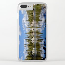 mosquito lake reflections Clear iPhone Case