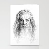 gandalf Stationery Cards featuring Gandalf by Creadoorm