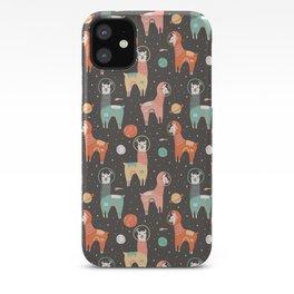 Astronaut Llamas in Space iPhone Case