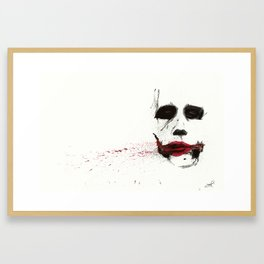 Joker TDK - Heath Ledger Watercolor Splatter Artwork Framed Art Print