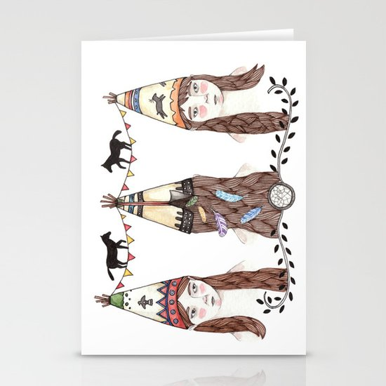 Tipi Party Stationery Cards
