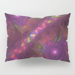 Colorful And Luminous Fractal Art Pillow Sham