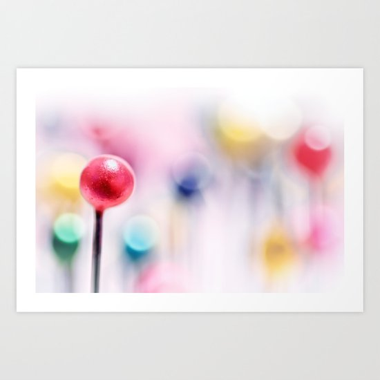 A pincushion in a very colorful mood... Art Print
