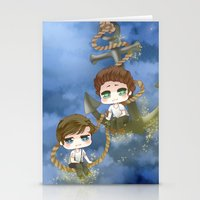 larry stylinson Stationery Cards featuring Larry Stylinson - Anchor and rope by Yorlenisama