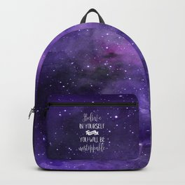 Believe In Yourself Motivational Quote Backpack