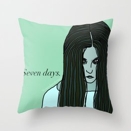 Female Trouble Series: Samara from The Ring Throw Pillow