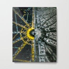Night and day above Paris Metal Print