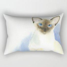 chocolate point siamese cat 2 Rectangular Pillow