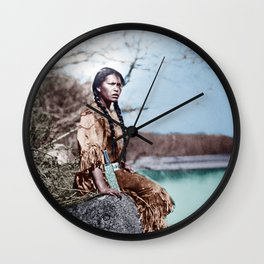 Native Girl Wall Clock