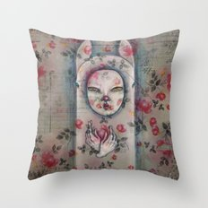 Ghostly Throw Pillow
