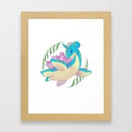 Lapras15 Framed Art Print