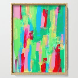 Abstract Painting Modern Acrylic Art - Just Have Fun no.0 Serving Tray