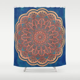 Dusty Mandala - LaurensColour Shower Curtain