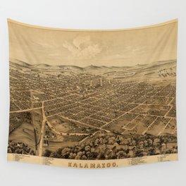 Map Of Kalamazoo 1874 Wall Tapestry