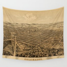 Map Of Kalamazoo 1874 Wall Tapestry