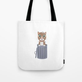Cute Cat In the trash can   Tote Bag