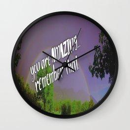 Amazing rainbows Wall Clock