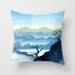 The Blue Ridge Throw Pillow