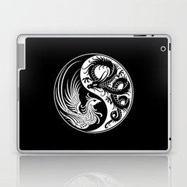 White and Black Dragon Phoenix Yin Yang Laptop & iPad Skin