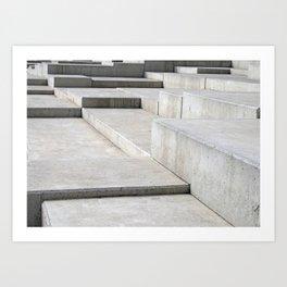 concrete geometry - modernist abstract 4 Art Print