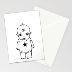 kewpie lineart Stationery Cards