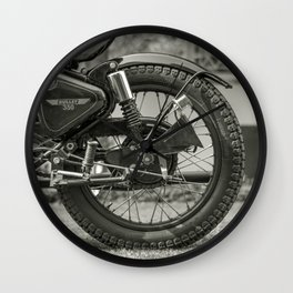 The Vintage Royal Enfield Bullet 350 Motorcycle Wall Clock