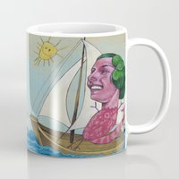 sailing Mugs featuring Sailing by busymockingbird