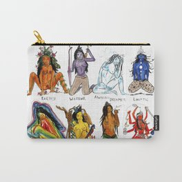 Her Moods - Watercolor Chart of the Emotions of the Female Mind Carry-All Pouch