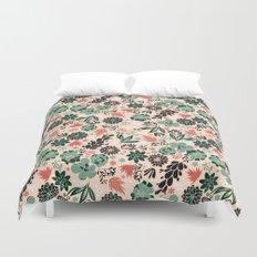 Succulent flowerbed Duvet Cover