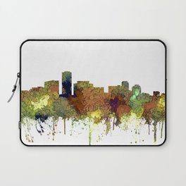 Long Beach, California Skyline - Safari Buff Laptop Sleeve