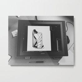 Designing shoes Metal Print