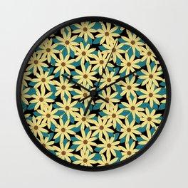Gerbera Black Wall Clock