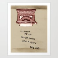 Story Fell Out (Brown) Art Print