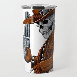 Skull cowboy.Skeleton Travel Mug
