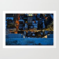 Don't Look Down - New York City Art Print