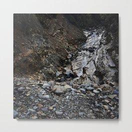 Decending Rocky  Falls Metal Print