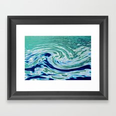 OCEAN ABSTRACT 2 Framed Art Print